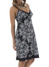 Robe courte d'été noire et blanche en coton Myru 291476
