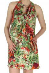 Robe courte d'été Originale et Colorée Ramani Verte 285121