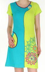 Robe courte d'été Originale et Colorée Simply Anis 283117