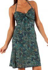 Robe courte d'été Pas Chère Originale et Ethnique Bleue Jadim 285927