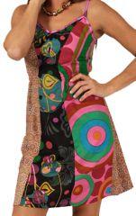 Robe courte d'été Pas Chère Originale et Imprimée Nuhdei 285915