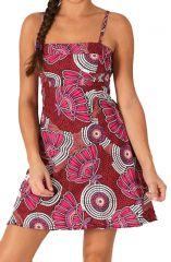 Robe courte d'été Pas Chère Rose Originale et Stylée Talissa 285960