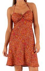 Robe courte d'été Pas Chère Rouge Originale et Ethnique Naguëal 285933