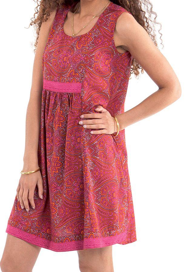 Robe courte d'été Rose sans manches Fashion et Ethnique Katia 280939
