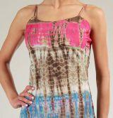 Robe courte d'été Rose Tie and Dye Originale et Colorée Branda 276979