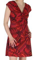 Robe courte d'été Rouge décolletée Originale et Colorée Dyuma 284090