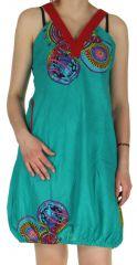 Robe courte d'été Turquoise forme Boule et Ethnique Madurai 279594