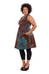 Robe courte d'été XXXL Originale et Colorée Calissa Choco 284327