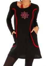 Robe courte d'hiver à poches et manches longues Lékoni 312710