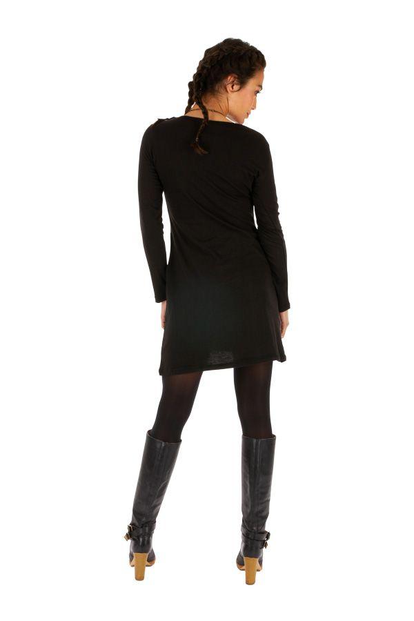 Robe courte d'hiver à poches et manches longues Lékoni 312712