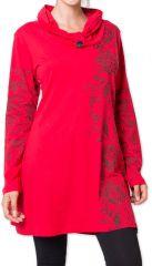 Robe courte d'hiver Colorée et Originale Mouluya Rouge 275735