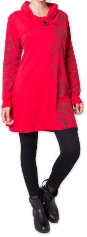 Robe courte d'hiver Colorée et Originale Mouluya Rouge 275737