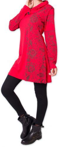 Robe courte d'hiver Colorée et Originale Mouluya Rouge 275738
