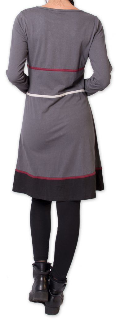 Robe courte d'hiver Ethnique et Originale Heclas Gris 275808