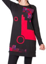 Robe courte d'hiver Ethnique et Originale Irrawadi Noire 275783