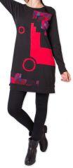 Robe courte d'hiver Ethnique et Originale Irrawadi Noire 275785