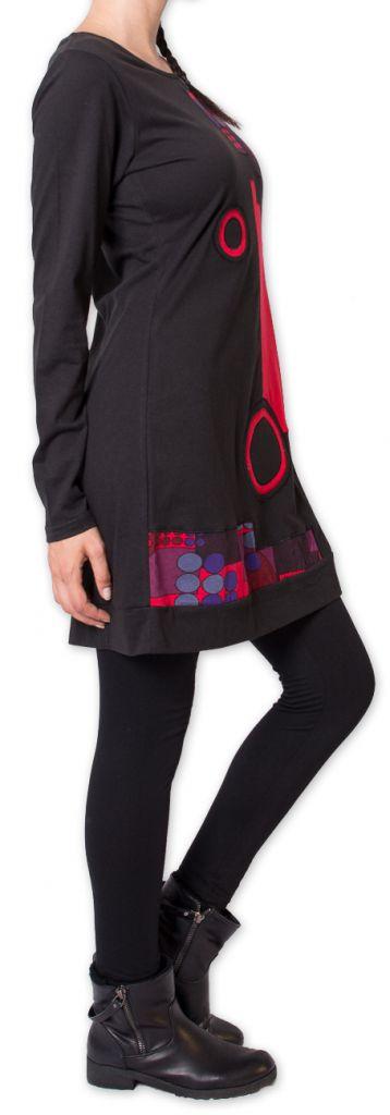 Robe courte d'hiver Ethnique et Originale Irrawadi Noire 275786