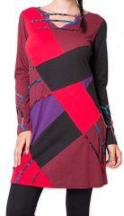 Robe courte d'hiver Ethnique et Originale Nadyme Noire 275871
