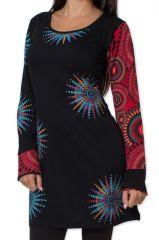 Robe courte d'hiver Ethnique et Originale Voltta Noire 279042