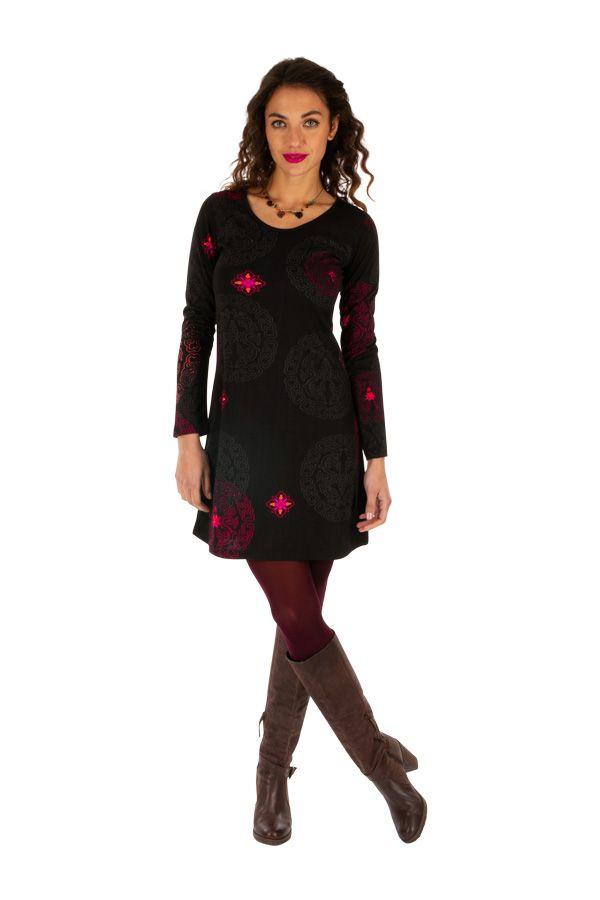 Robe courte d'hiver pour femme élégante et originale Sandra 312635