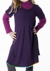 Robe courte de couleur prune pour fille 287182
