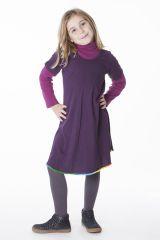 Robe courte de couleur prune pour fille 287183