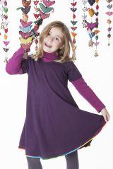 Robe courte de couleur prune pour fille 287184