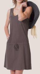 Robe courte de plage Grise Ethnique et Colorée Angella 276651