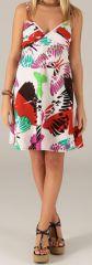 Robe courte de Plage Originale et Colorée Grazia Papillons 279541