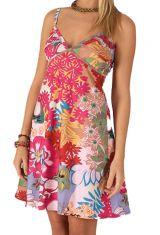 Robe courte de Plage Originale et Colorée Grazia Rose 284116