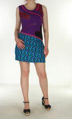 Robe courte de plage violette pour l'été Noma 299545