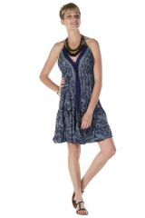 Robe courte dos-nu style indien Geneviève 288202