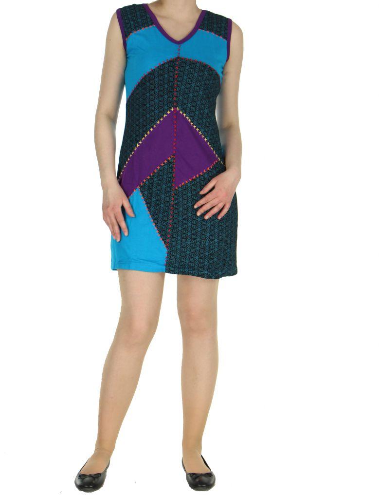 Robe courte du Népal bleue Adelma 268425