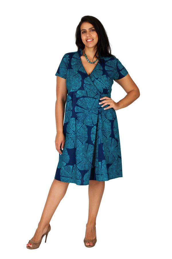 Robe courte effet cache coeur femme grande taille Lila 309247