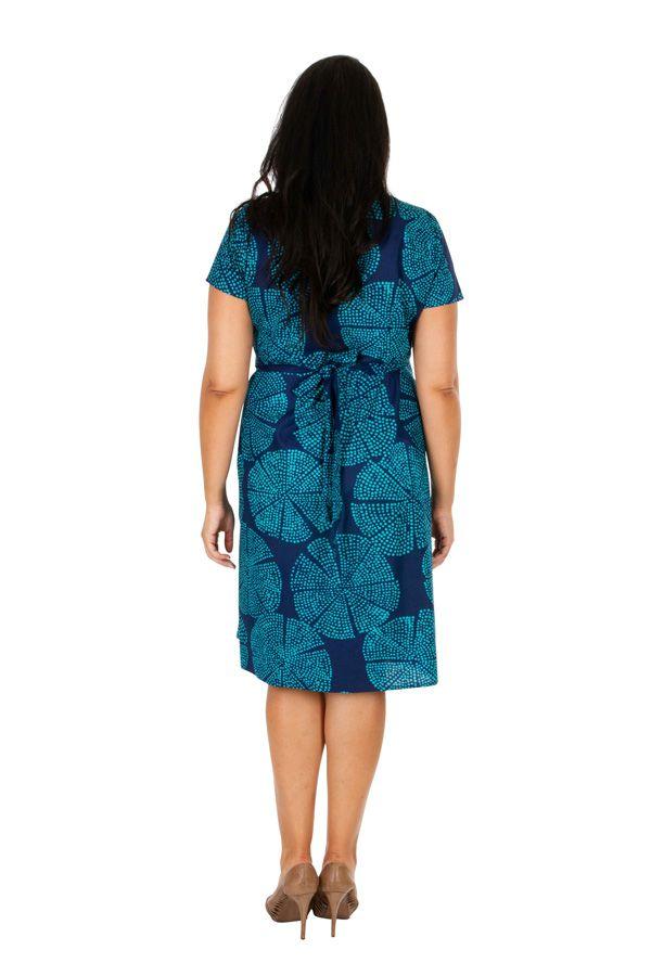 Robe courte effet cache coeur femme grande taille Lila 309248