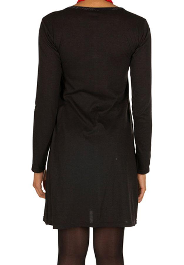 Robe courte élégante à manches longues et col V Belisio 301611