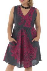 Robe courte élégante avec motifs ethniques grande taille Chiara 291944