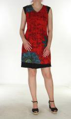 Robe courte élégante rouge Tanya 299883