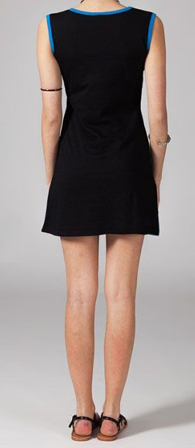 Robe courte en coton noire Zarha