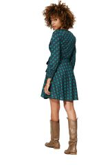 Robe courte en portefeuille femme mode bohème Sadie