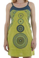 Robe courte estivale aux imprimés ethniques et colorée Caly 311875