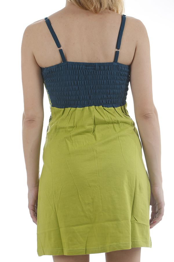 Robe courte estivale aux imprimés ethniques et colorée Caly 311876