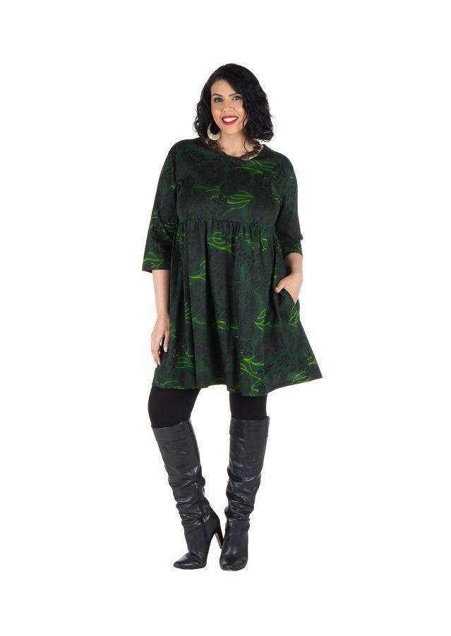 Robe courte et imprimés camaieu vert Forest 301705