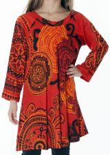 Robe courte et large pour fille de couleur orange 287343