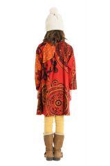 Robe courte et large pour fille de couleur orange 302243