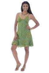 robe courte et légère avec de fines bretelles et motifs ethniques Nena 289894
