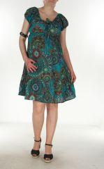 Robe courte et légère d'été Chanya bleue 299625