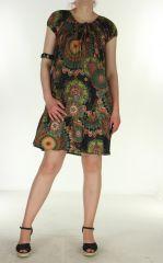 Robe courte et légère d'été Chanya noir 299629