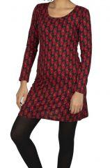 Robe courte et originale pour l\'hiver avec imprimé Najah