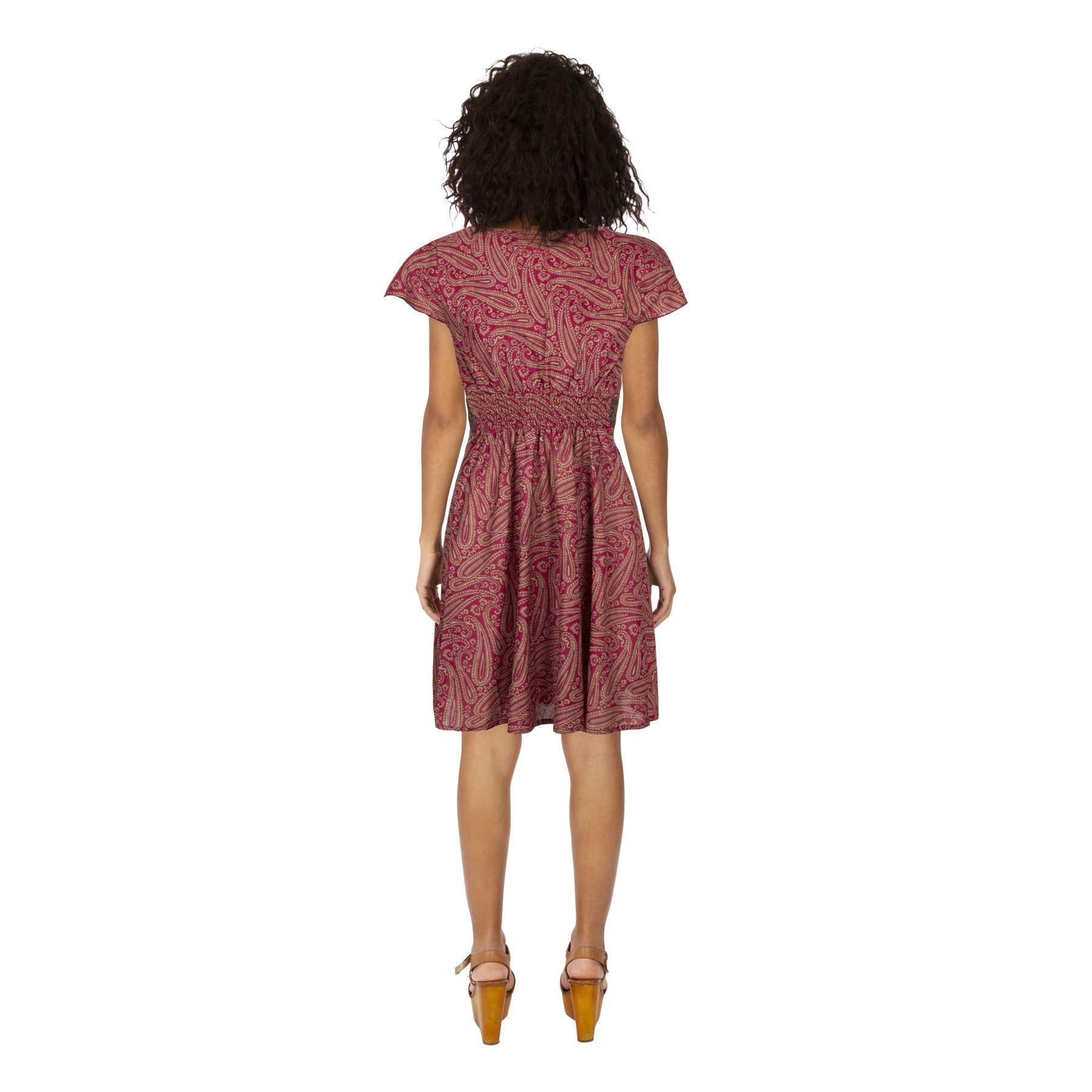 Robe courte été bohème et originale pour femme Yolanda